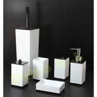 Taiwan ACRYLIC BLACK & WHITE BATHROOM ACCESSORIES / SET ...