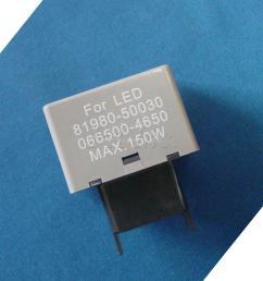 1pcs led turn signal flasher relay fix fast flashtoyota 12v [ 1600 x 1600 Pixel ]