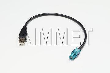 USB 2.0(TYPE A)MALE,W/SHIELD + AI1281288 300MM +HSD ST. F