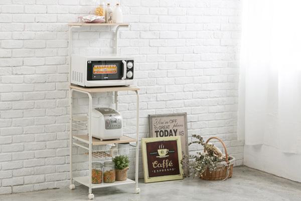 kitchen appliances storage rack with