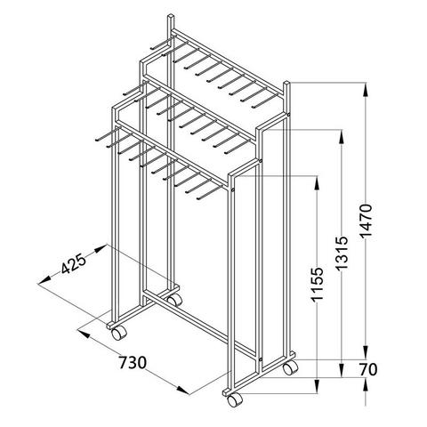 metal belt display stand rack for