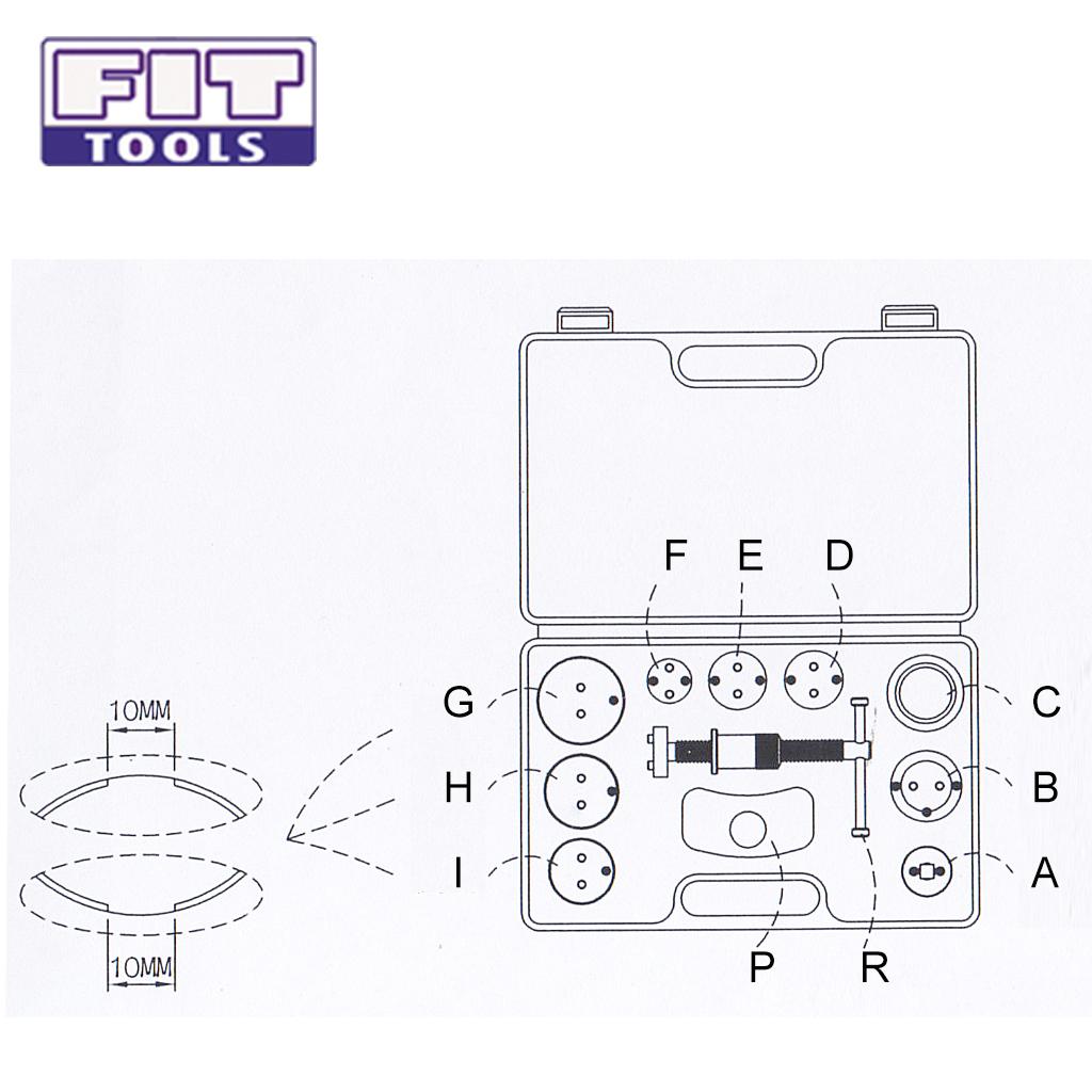 Taiwan 11 pcs Auto Disc Brake Caliper Piston Wind-Back Kit
