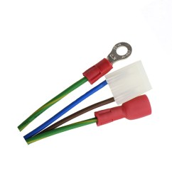 molex 3 pin 3 96 mm to insulated ring crimping terminal custom wiring harness assembly [ 1000 x 1000 Pixel ]
