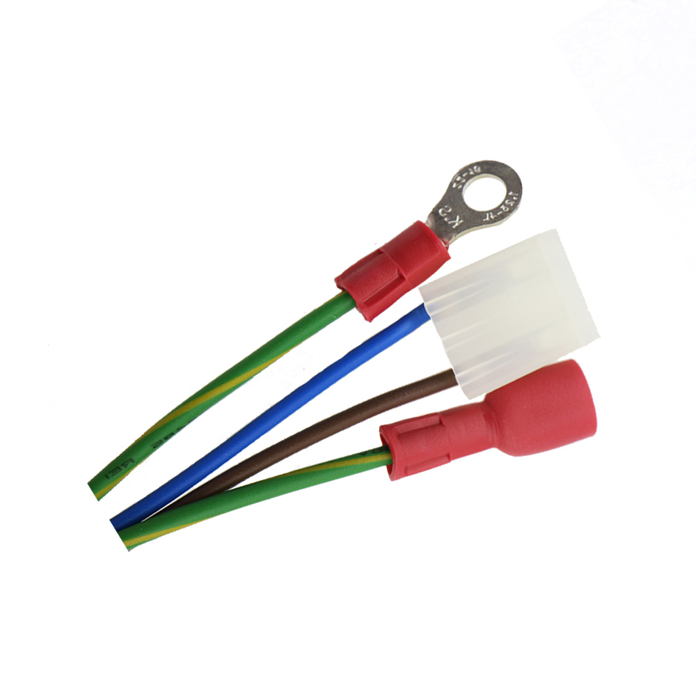 medium resolution of molex 3 pin 3 96 mm to insulated ring crimping terminal custom wiring harness assembly