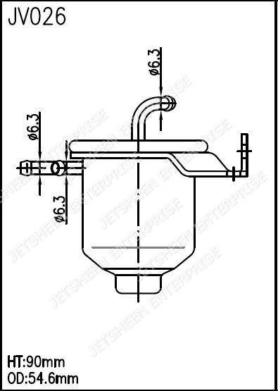 Fuel Filter VW 026-127-177B GONHER GG262 INTERFIL FGI-103