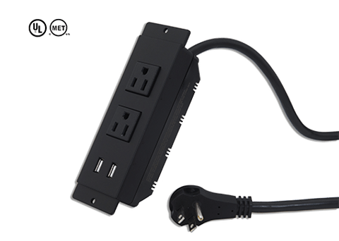 2插座2孔USB延長線-臺灣經貿網