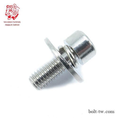 組合螺絲SEMS|內六角螺絲附平華司加彈簧片 | 維勳螺絲股份有限公司