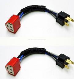 taiwan 4pcs ceramic wire harness h4 headlight plug n play bulb socket taiwantrade [ 1600 x 1600 Pixel ]