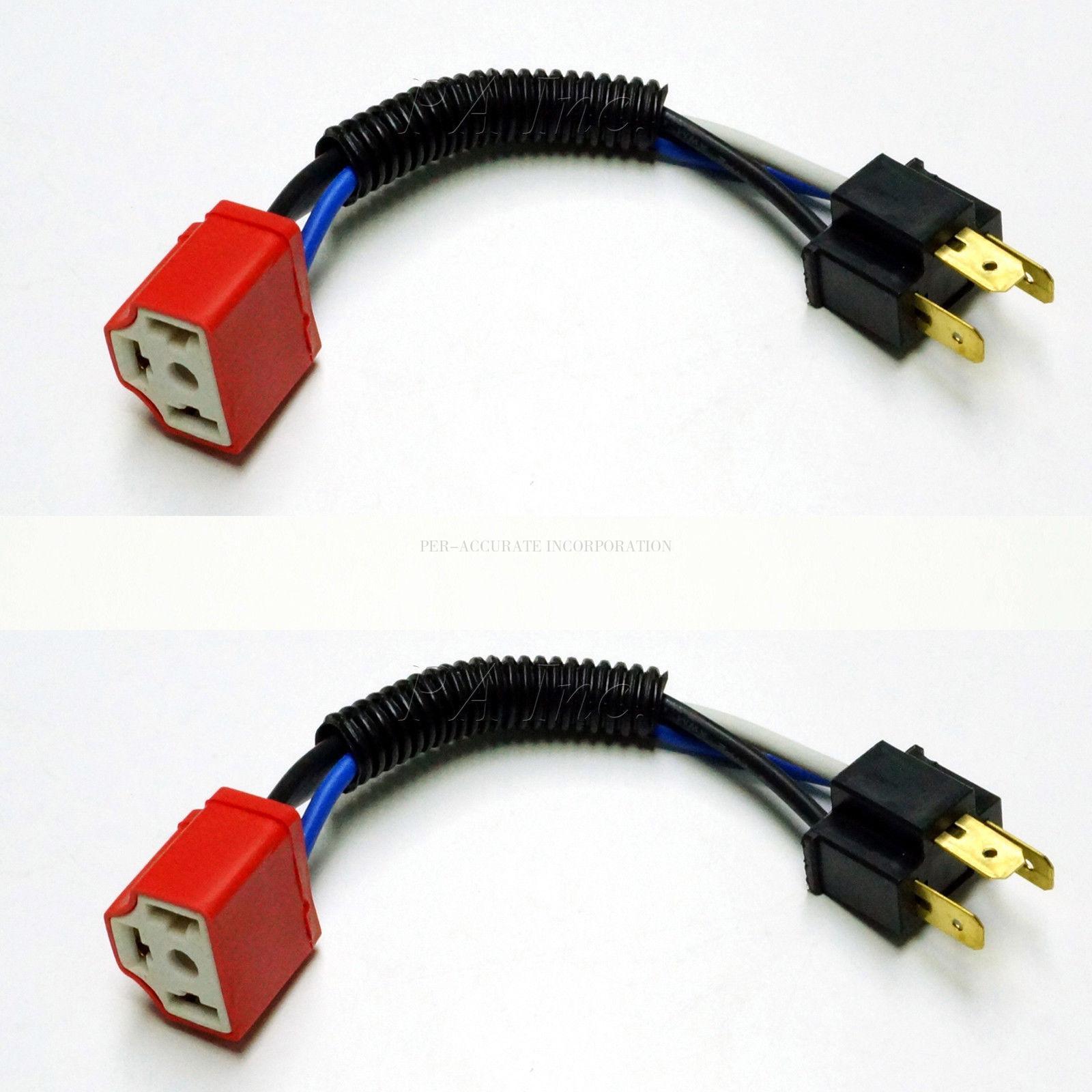 hight resolution of taiwan 4pcs ceramic wire harness h4 headlight plug n play bulb socket taiwantrade