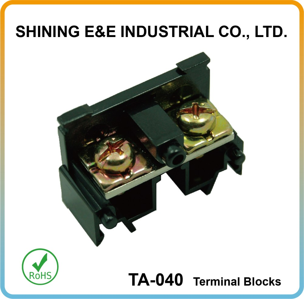medium resolution of din rail mounted 35mm 40 amp electrical cable connector