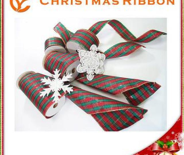 Wired Traditional Merry Christmas Ribbon Xmas Ribbon