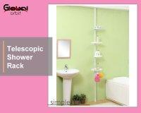 Taiwan Telescopic Shower Rack, Corner Bath Shelf ...