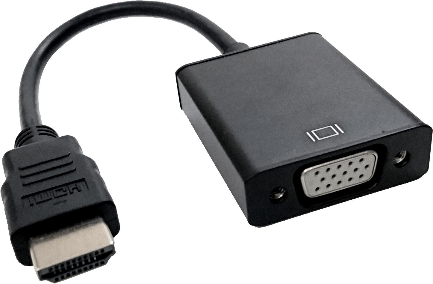 HDMI 轉 VGA與Audio 訊號轉換器 含3.5mm音源與Micro USB電源輸入 | 銘鵬科技股份有限公司