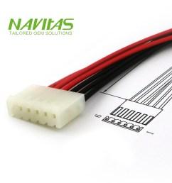 molex spox 5195 6pin 3 96mm pitch custom wiring harness assembly [ 1000 x 1000 Pixel ]