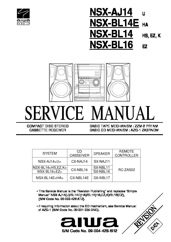 NSX AJ14 revision data pdf NSX AJ14 revision data pdf