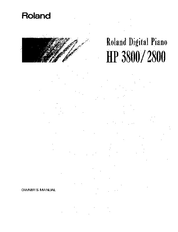 Roland Piano Digital HP 2800 Manual del Usuario pdf Roland