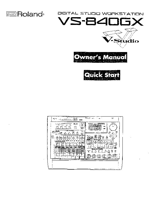 Roland VS 840GX Manual del Usuario pdf Roland VS 840GX