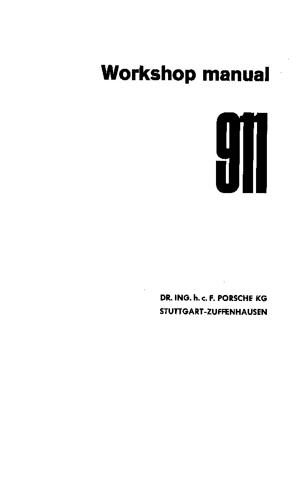 Porsche 911 Workshop Manual pdf Porsche