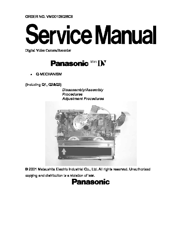 Q-Mechanism.pdf Panasonic MECHANISM Q1-Q2-Q3