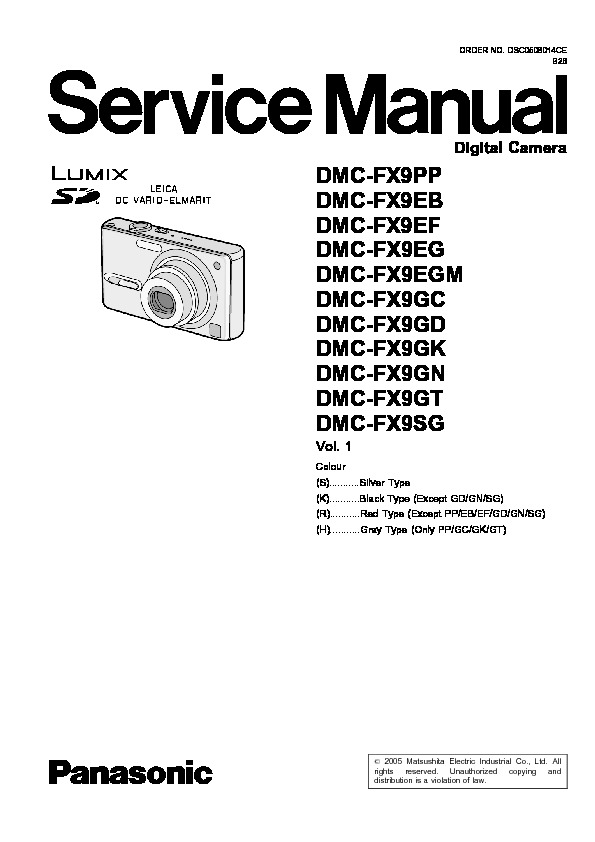 MS DMC-FX9PP-S VOL1.pdf PANASONIC DMC-FX9PP series