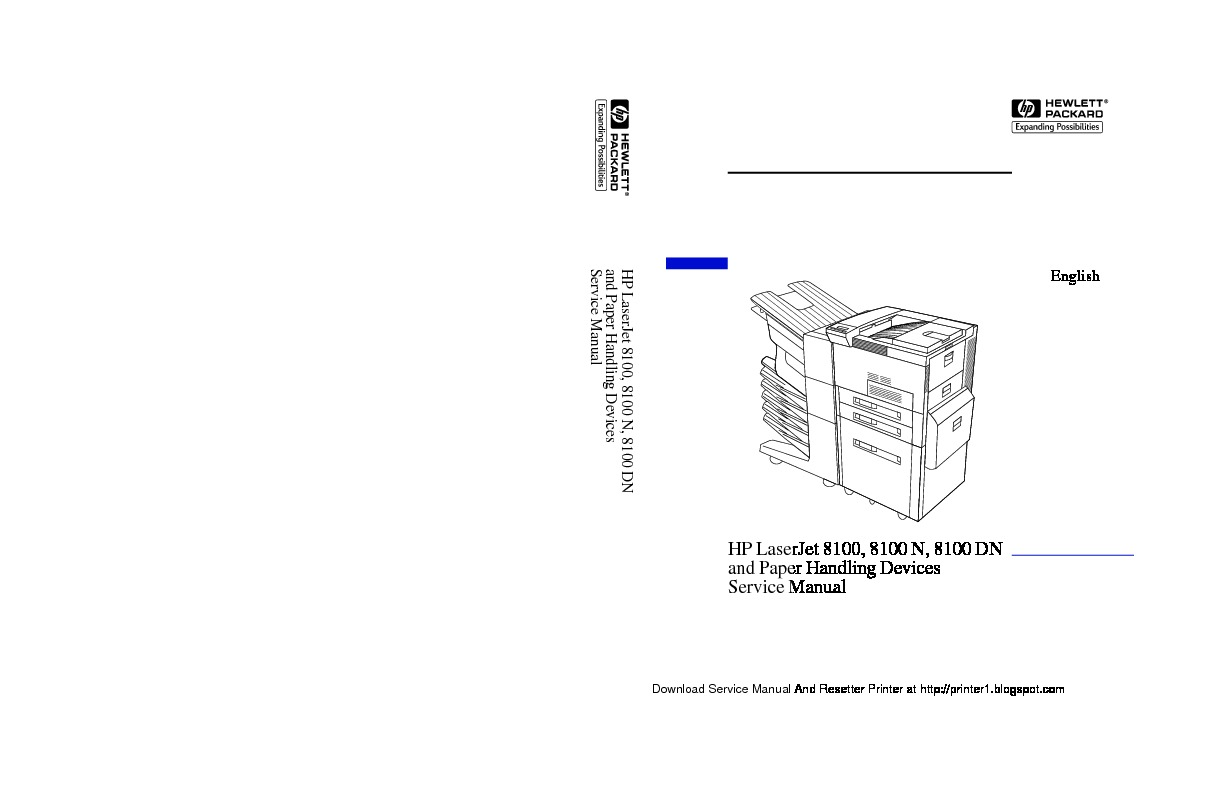 HP Laserjet 8100 Manual de Servicio pdf HP