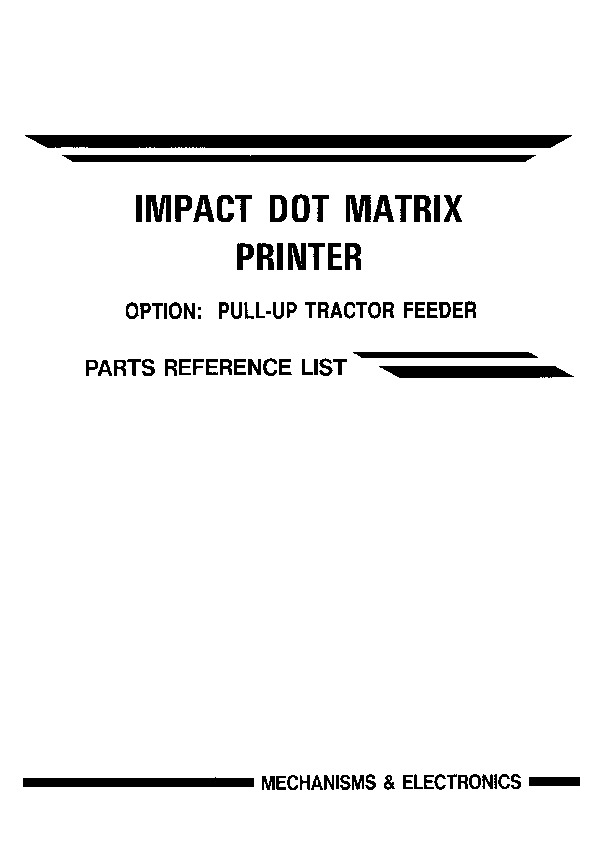 Brother m4318 Parts Manual pdf Brother