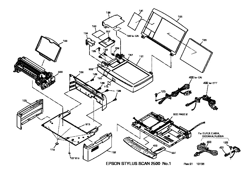 Epson Stylus Scan 2500 Exploded Diagram pdf Epson