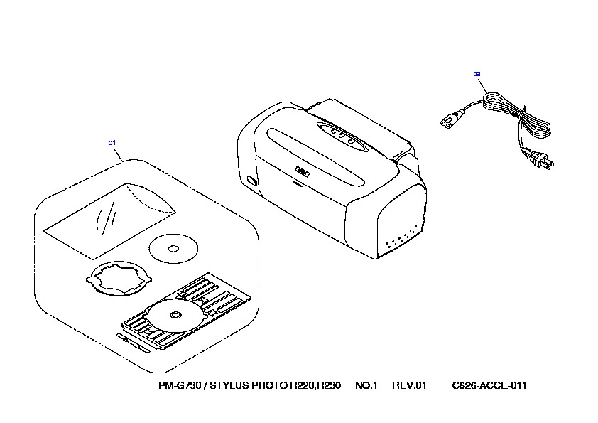 Stylus Photo R220 Exploded Diagram