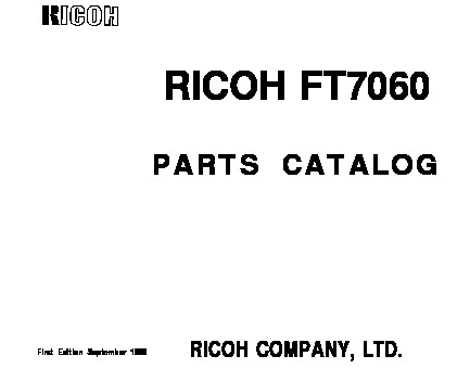 Ricoh FT7060 Parts Manual pdf Ricoh FT7060