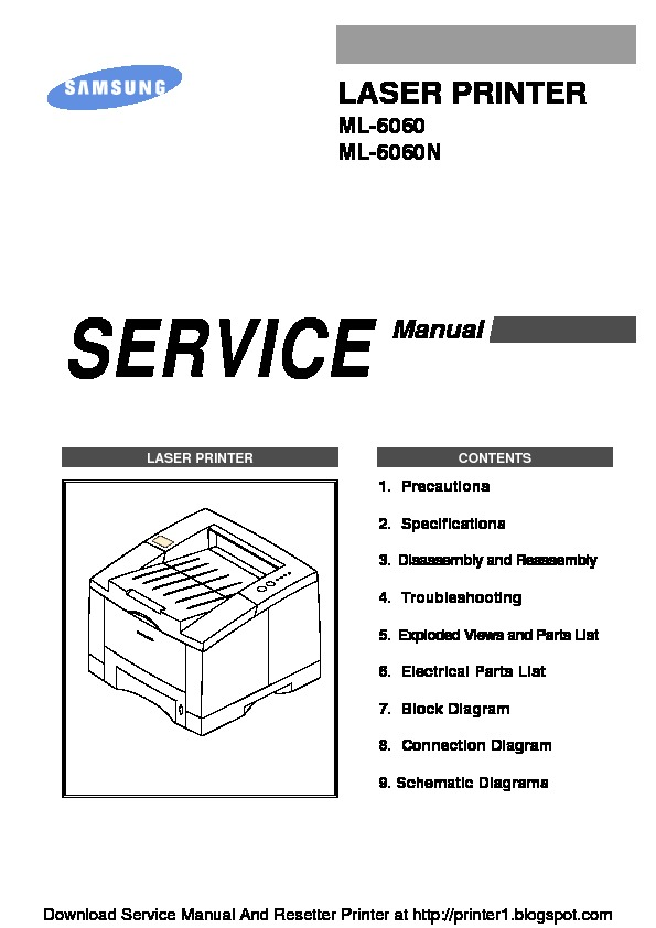 Samsung ML-6060 Manual de Servicio pdf SAMSUNG