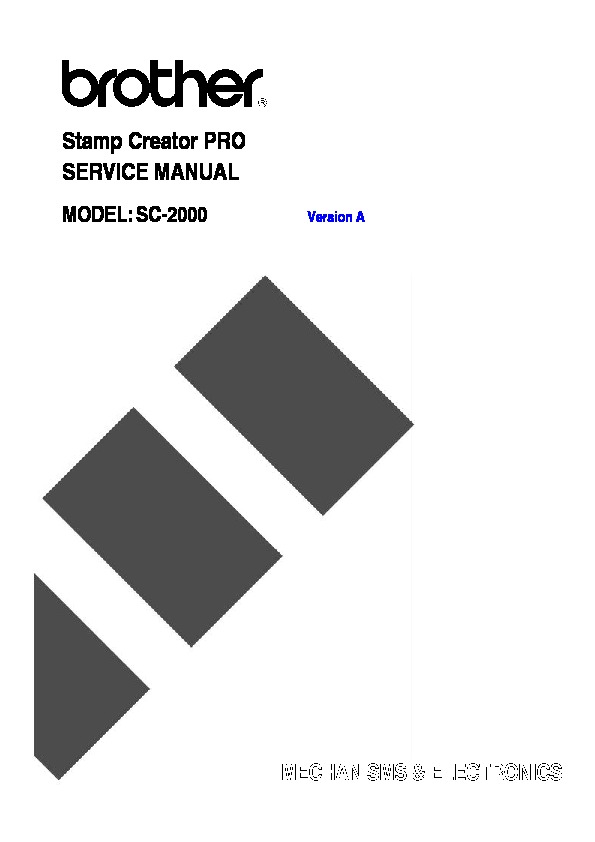 Brother SC-2000 Service Manual pdf Brother SC-2000