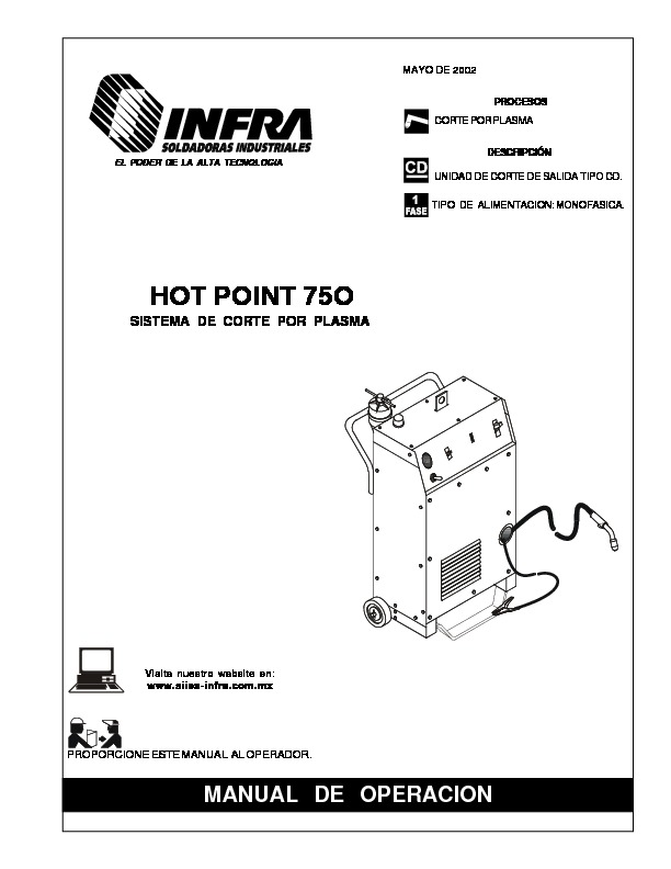 HOT POINT 750.pdf INFRA HOT POINT 75O