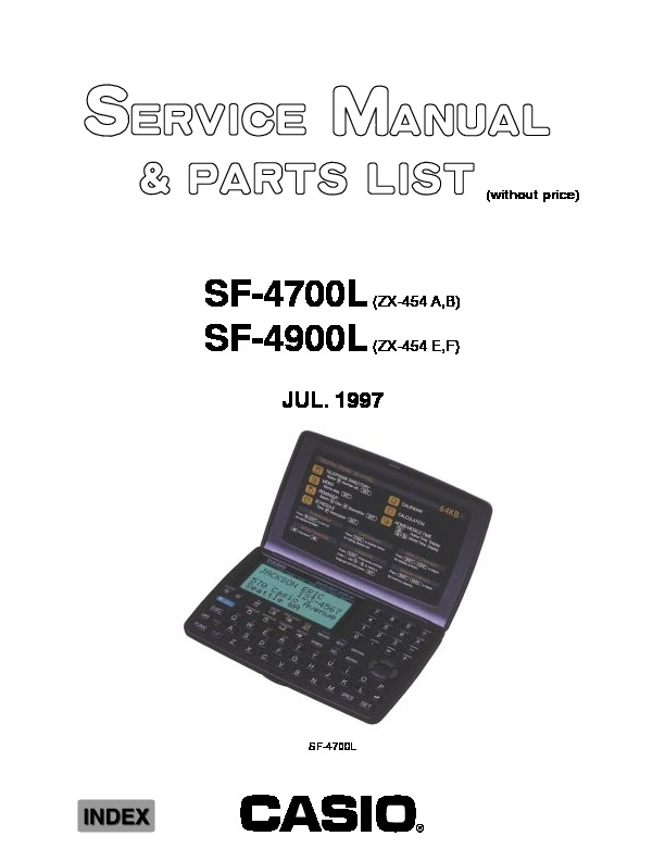 Casio SF4700L.pdf Casio SF-4700L, SF-4900L