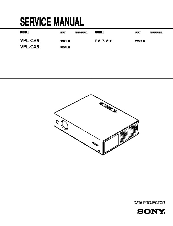 VPL-CS5-CX5.pdf Sony vpl-cs5 21187