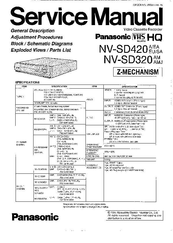 NV-SD320 420.pdf PANASONIC – Diagramasde.com