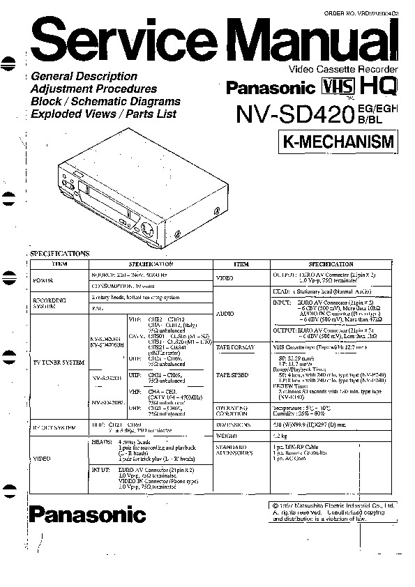 NV-SD420.pdf PANASONIC NV-SD420
