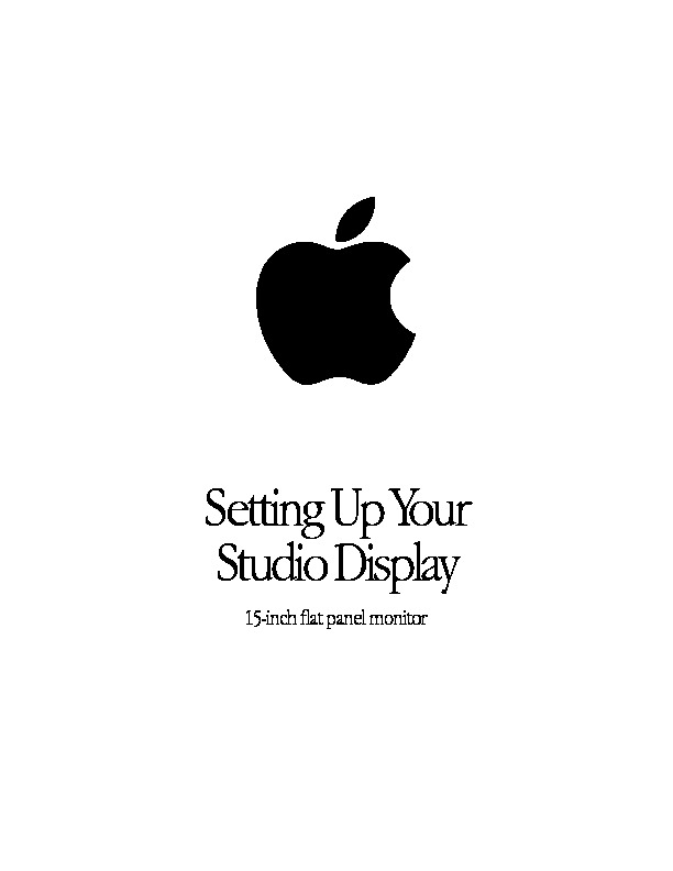 Apple Studio Display 15-inch flat panel.pdf Apple