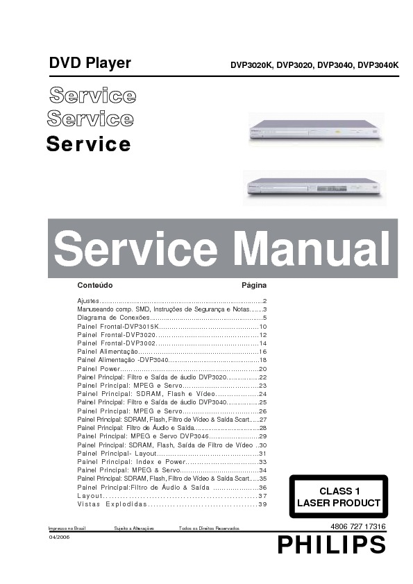DVD-PhilipsDVP3040- service manual.pdf PHILIPS DVP-3020