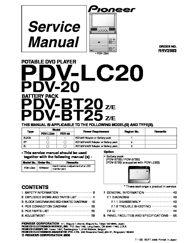 pioneer PDV-LC20,BT20,BT25 portable dvd player.pdf Pioneer