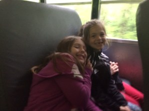 Happy to be on the bus heading to the World Bird Sanctuary.