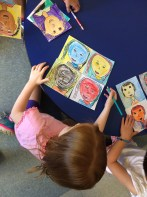 We worked to color our portraits so they looked like Andy Warhol's famous art.
