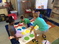 We even played Twister - because there are dots on the gameboard!