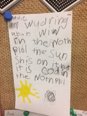 """""""I am wondering about when in the north pole the sun shines on it but it is cold in the north pole."""""""