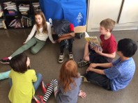 Our fourth grade learning buddies read to us on World Read Aloud Day - it was so much fun!