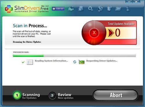 自動驅動程式偵測軟體 SlimDrivers
