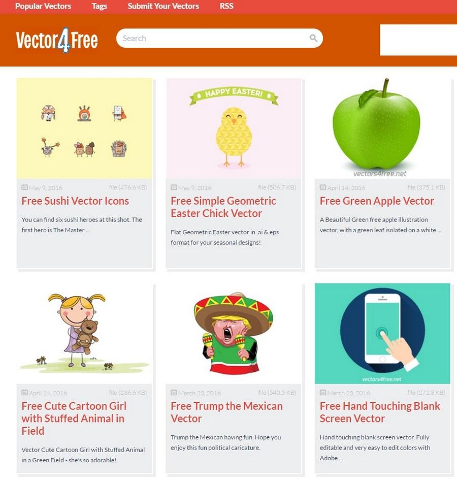 免費圖像向量圖素材網站下載 Vector4Free