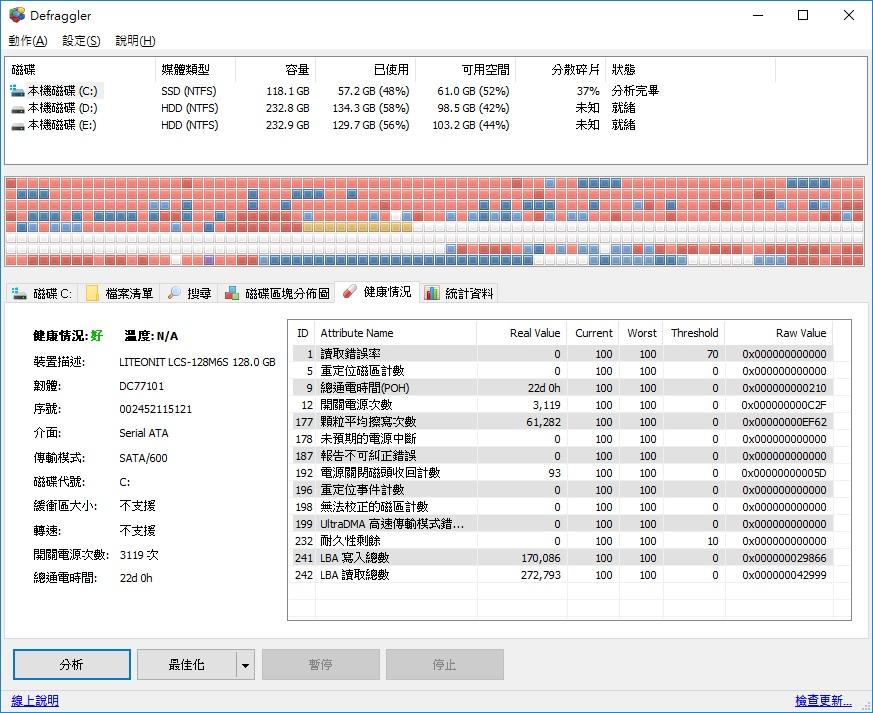 免費硬碟整理工具 重組軟體Defraggler幫硬碟加速