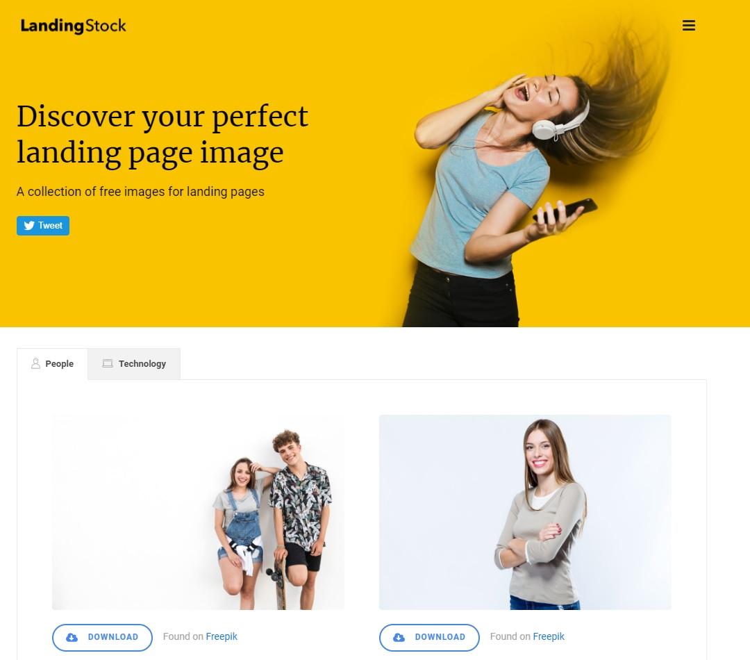 Landing page 登陸頁面製作 LandingStock給你高品質好素材