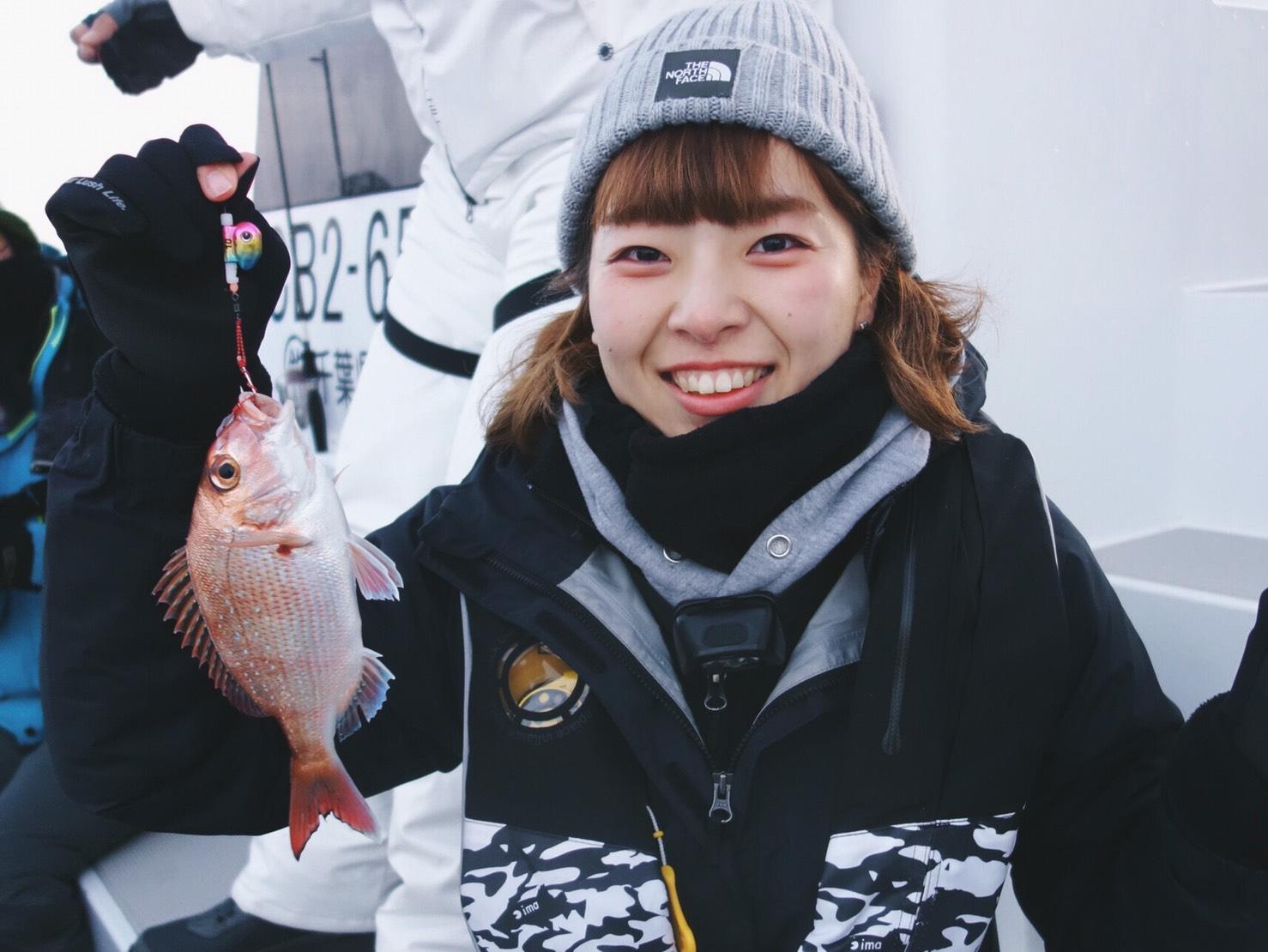 初めての真鯛キャッチ♪