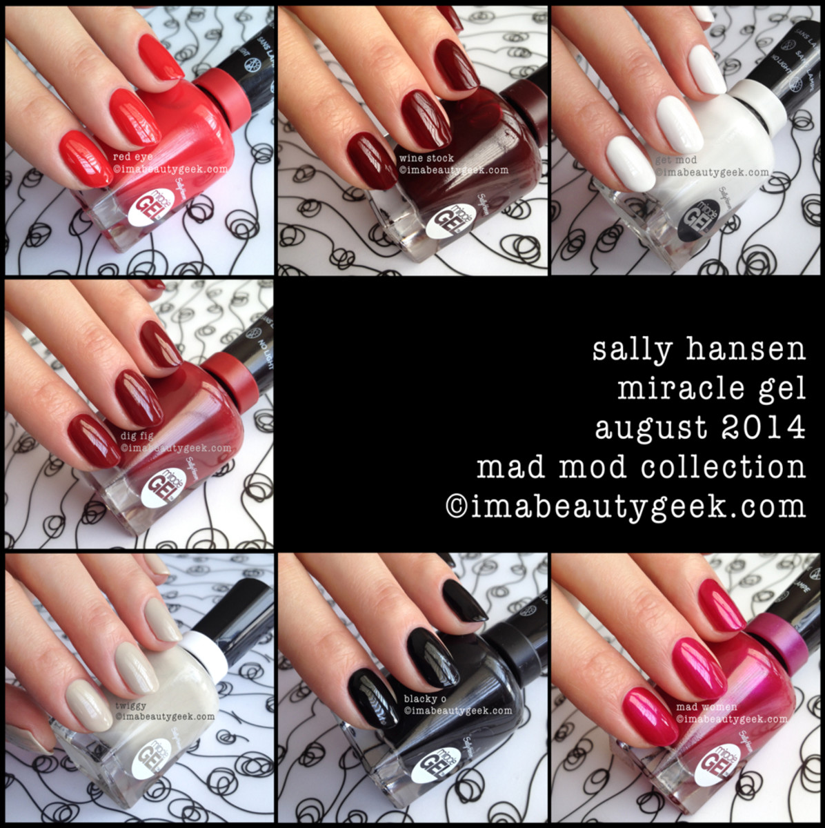 Sally Hansen Mad Mod Collection Swatches Miracle Gel